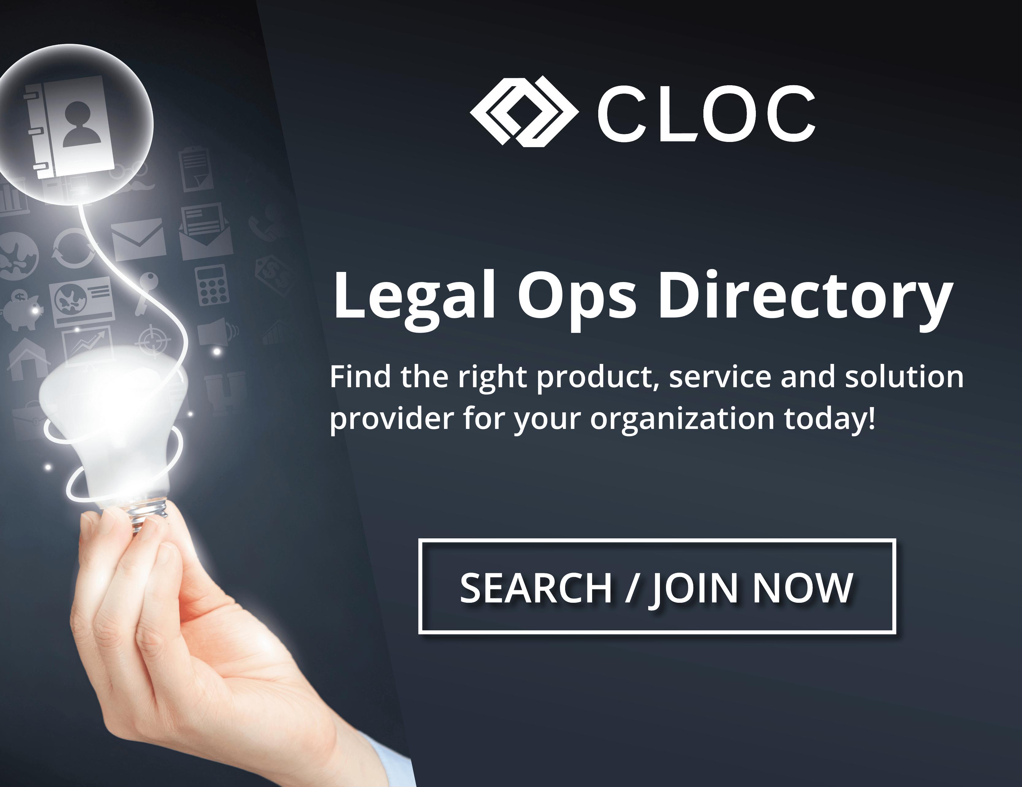 CLOC Legal Ops Directory